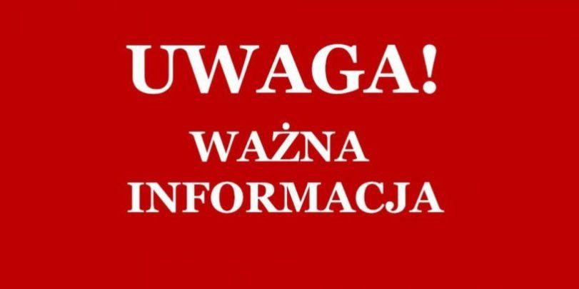 Komunikat dyrektora szkoły i oświadczenie Związku Miast Polskich – Zespół  Szkół nr 1 w Żorach